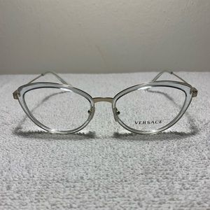 127f3926618a Versace 1244 1405 Clear Cats Eye Eyeglasses